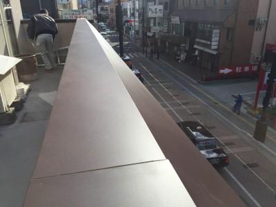 笠木・斜壁の雨漏り修理