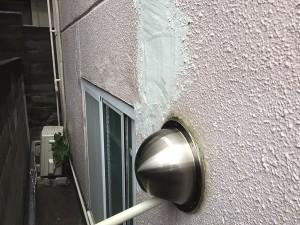ALC壁の剥離を補修