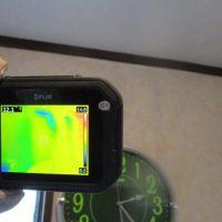 赤外線かめらによる雨漏り調査