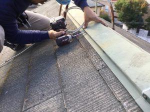 屋根のビス止め