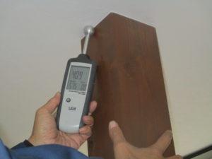 雨漏り調査による水分含有量の検査