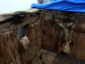 シーリングの穴埋めによる雨漏り